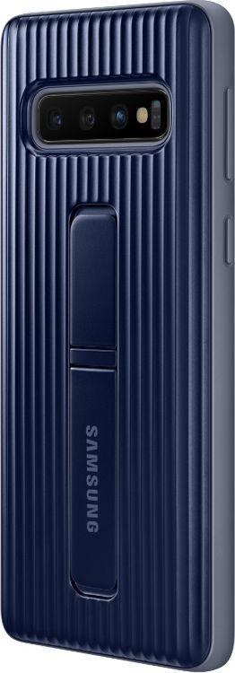 Купить Чехол-накладка Samsung Protective Standing Cover для Galaxy S10 поликарбонат (черный) EF-RG973CBEGWW