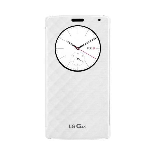 Чехол-книжка LG QuickCircle (CFV-110.AGRAWH) для LG G4s H736/H734 пластик полиуретан (white)для LG<br>Чехол-книжка LG QuickCircle (CFV-110.AGRAWH) для LG G4s H736/H734 пластик полиуретан (white)<br>