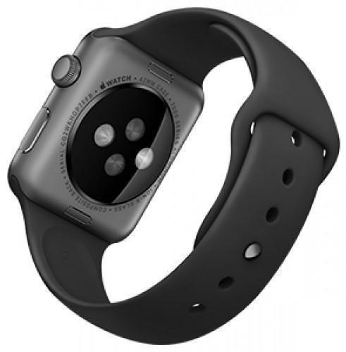 Купить со скидкой Ремешок силиконовый Rock Sport Band для Apple Watch Series 1/2 38мм black