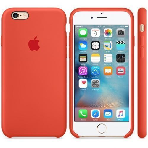 Чехол-накладка Apple Silicone Case для iPhone 6/6s силиконовый оранжевый (MKY62ZM/A)для iPhone 6/6S<br>Чехол-накладка Apple Silicone Case для iPhone 6/6s силиконовый оранжевый (MKY62ZM/A)<br>