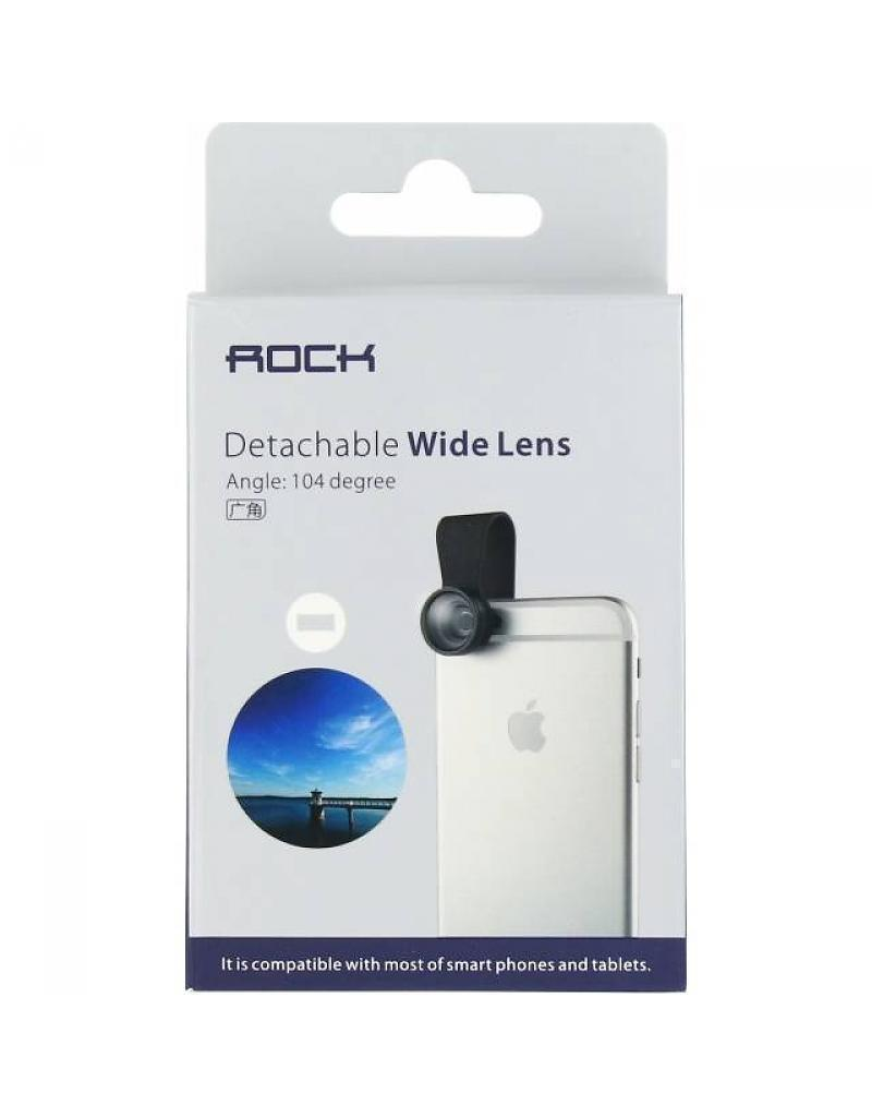 Объектив клипса Rock Wide Lens (панорамная съемка) для телефонов, смартфонов и планшетов black