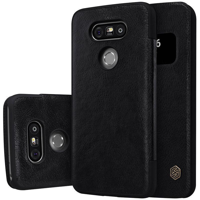 Чехол-книжка Nillkin QIN Leather Case для LG G5 / G5 SE (H860 / H845) натуральная кожа (черный)