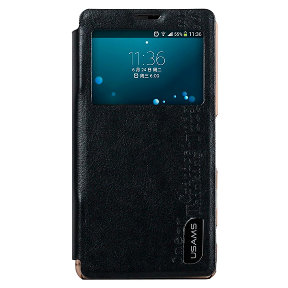Чехол-книжка Usams U-Smile для Sony Xperia A2 / Z2 Compact натуральная кожа черный