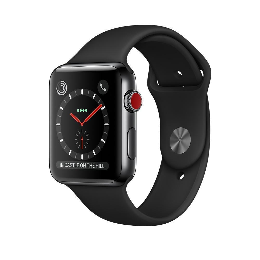 Apple Watch Series 3 42mm(GPS+Cellular) Space Black Stainless Steel Case with Black Sport Band MQK92Apple Watch Series 3<br>Apple Watch Series 3 42mm(GPS+Cellular) Space Black Stainless Steel Case with Black Sport Band MQK92<br>