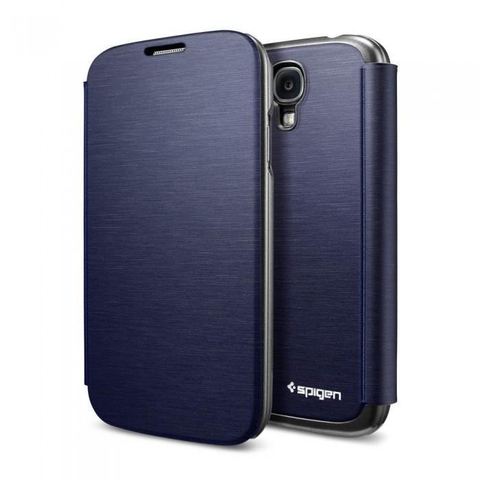 Чехол-книжка Spigen Ultra Flip SGP10271 для Samsung Galaxy S4 пластик синийдля Samsung<br>Чехол-книжка Spigen Ultra Flip SGP10271 для Samsung Galaxy S4 пластик синий<br>