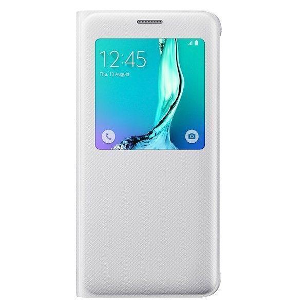 Чехол-книжка Samsung S-View Cover для Galaxy S6 Edge Plus полиуретан, поликарбонат белый CG928PWEGRUдля Samsung<br>Чехол-книжка Samsung S-View Cover для Galaxy S6 Edge Plus полиуретан, поликарбонат белый CG928PWEGRU<br>