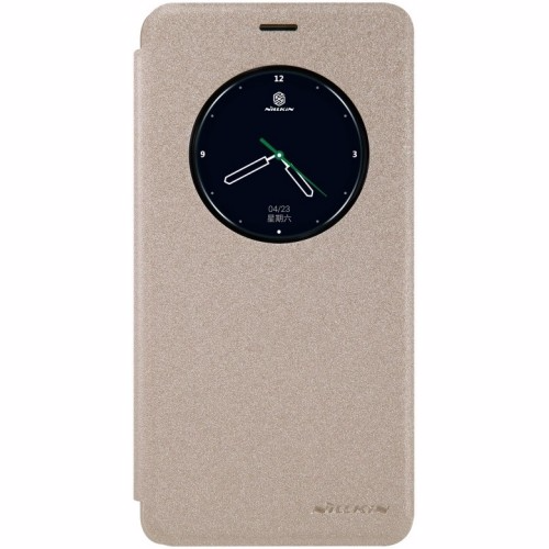 Чехол-книжка Nillkin Sparkle Series для Meizu M3 Note пластик-полиуретан (золотой)