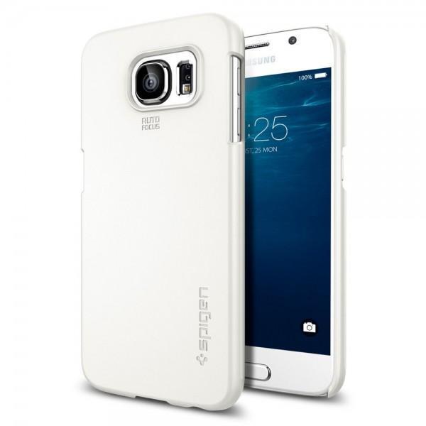 Чехол-накладка Spigen Thin Fit для Samsung Galaxy S6 (SGP11309) Shimmery Whiteдля Samsung<br>Чехол-накладка Spigen Thin Fit для Samsung Galaxy S6 (SGP11309) Shimmery White<br>