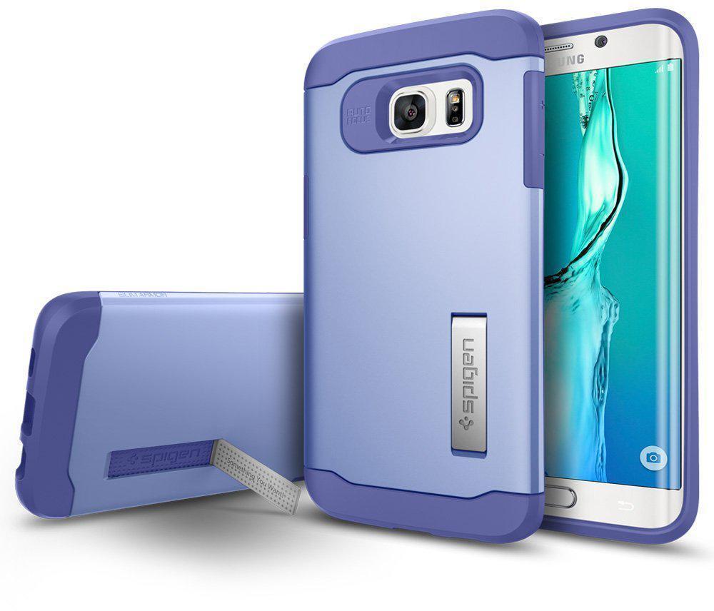 Чехол-накладка Spigen Slim Armor SGP11703 для Galaxy S6 Edge Plus резина, пластик (фиолетовый)для Samsung<br>Чехол-накладка Spigen Slim Armor SGP11703 для Galaxy S6 Edge Plus резина, пластик (фиолетовый)<br>