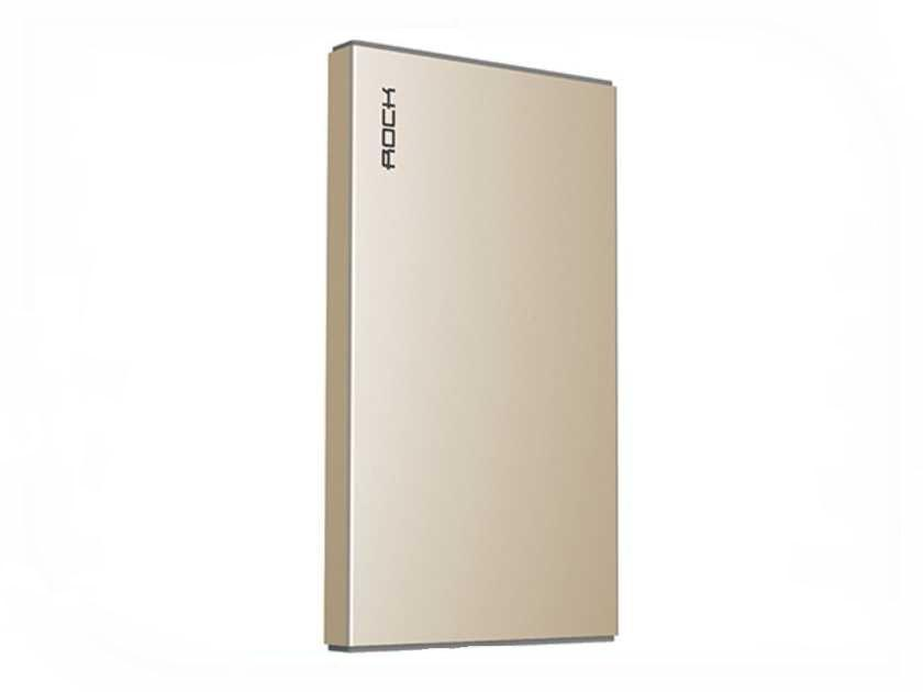 Универсальный внешний аккумулятор Rock Stone Power Bank 5000 mAh 2.4 А, USBx1 металл champagne goldУниверсальные внешние аккумуляторы<br>Универсальный внешний аккумулятор Rock Stone Power Bank 5000 mAh 2.4 А, USBx1 металл champagne gold<br>