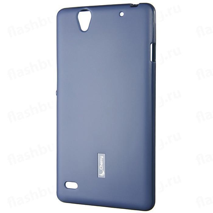 Купить Чехол-накладка Cherry для Sony Xperia C 4 силиконовый матовый (синий)
