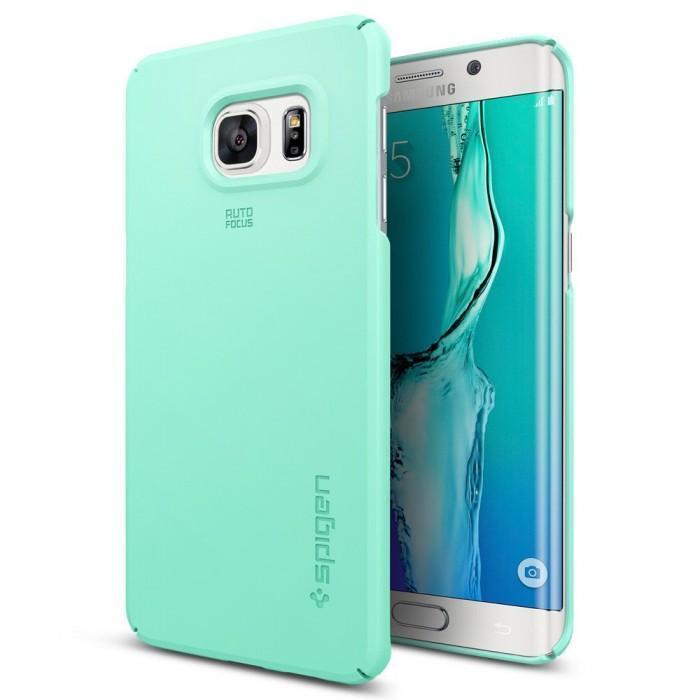 Чехол-накладка Spigen SGP11696 Thin Fit для Samsung Galaxy S6 Edge Plus Mintдля Samsung<br>Чехол-накладка Spigen SGP11696 Thin Fit для Samsung Galaxy S6 Edge Plus Mint<br>