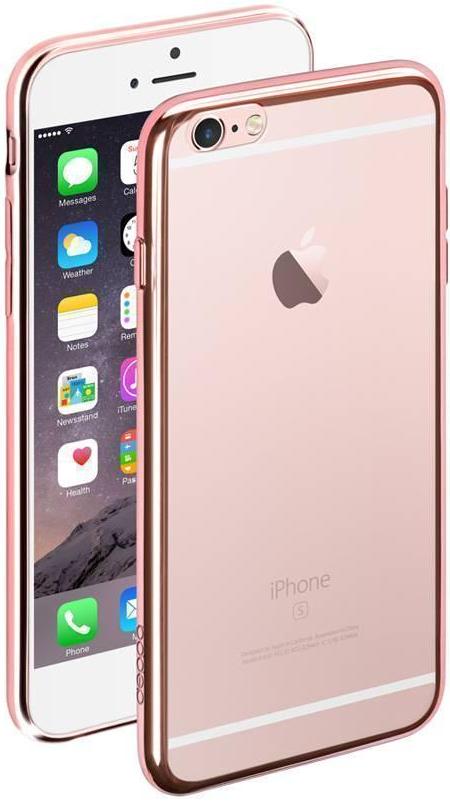 Купить Чехол-накладка для Apple iPhone 6 Plus/6S Plus силиконовый прозрачный (рамка Rose Gold)