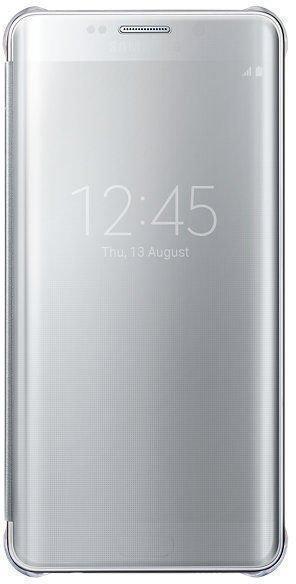 Чехол-книжка Samsung Clear View Cover для Galaxy S6 Edge Plus поликарбонат,полиуретан серебристыйдля Samsung<br>Чехол-книжка Samsung Clear View Cover для Galaxy S6 Edge Plus поликарбонат,полиуретан серебристый<br>