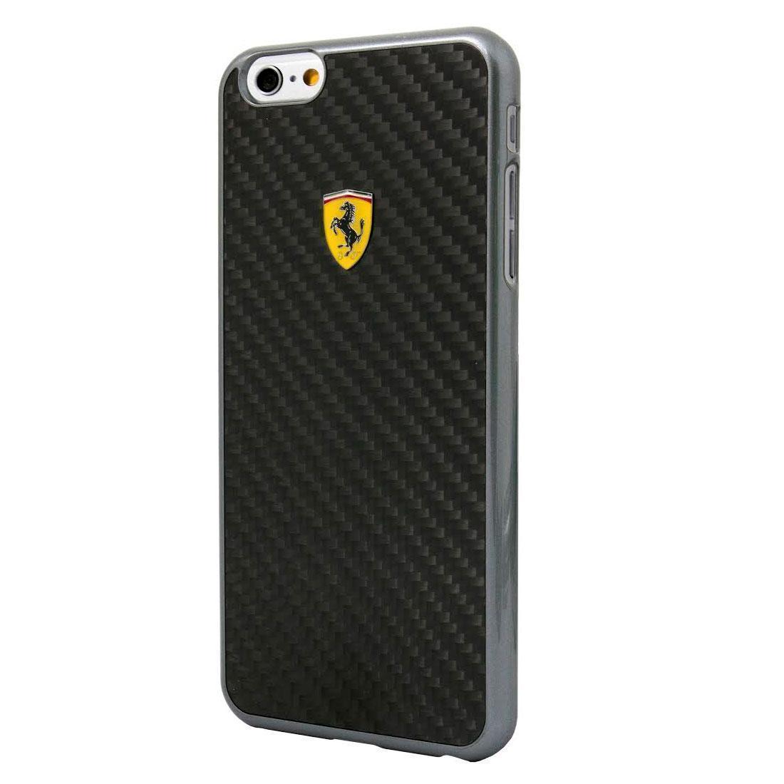 Чехол-накладка Ferrari Formula Real Fiber Carbon для Apple iPhone 6 Plus/6S Plus Blackдля iPhone 6 Plus/6S Plus<br>Чехол-накладка Ferrari Formula Real Fiber Carbon для Apple iPhone 6 Plus/6S Plus Black<br>