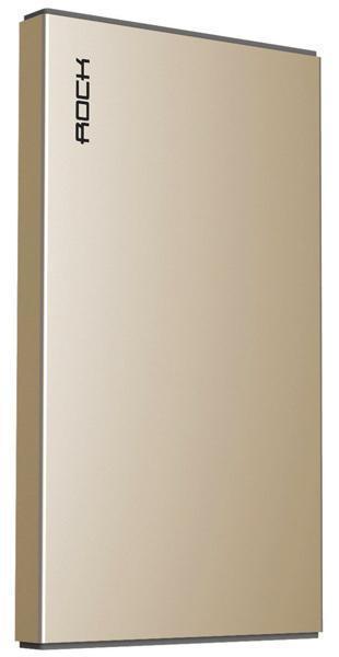 Универсальный внешний аккумулятор Rock Stone Power Bank 10000 mAh 3.1 А, USBx2 металл champagne goldUSBx1<br>Универсальный внешний аккумулятор Rock Stone Power Bank 10000 mAh 3.1 А, USBx2 металл champagne gold<br>