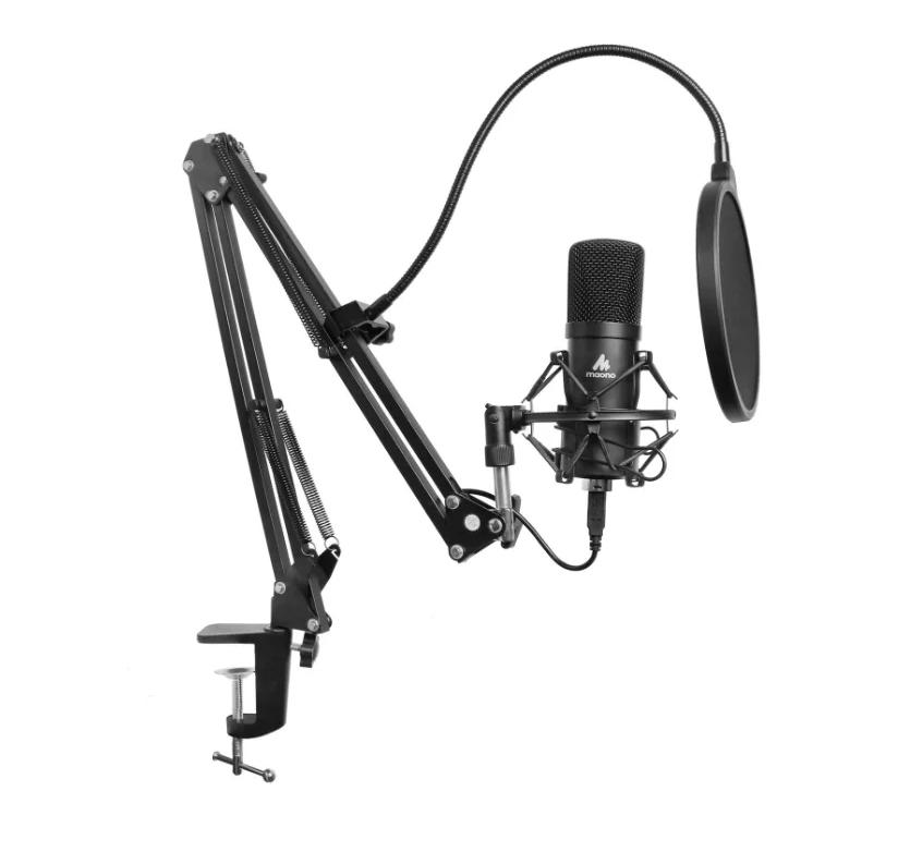 Конденсаторный USB-микрофон Maono AU-A04 (комплект со штангой) 192 kHz/24 bit (Black)