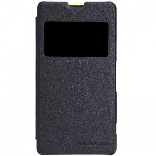 Чехол-книжка Nillkin Sparkle Series для Sony Xperia Z1 пластик-полиуретан черныйдля Sony<br>Чехол-книжка Nillkin Sparkle Series для Sony Xperia Z1 пластик-полиуретан черный<br>
