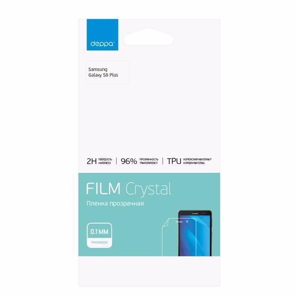 Защитная пленка Deppa TPU (61438) для Samsung Galaxy S8+ (SM-G955) на всю поверхность экранадля Samsung<br>Защитная пленка Deppa TPU (61438) для Samsung Galaxy S8+ (SM-G955) на всю поверхность экрана<br>