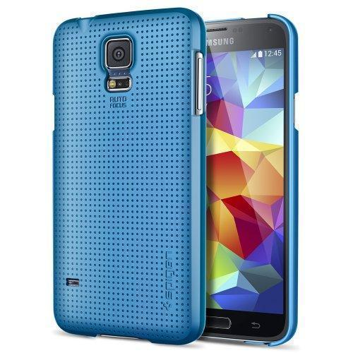 Чехол-накладка Spigen SGP10835 Ultra Fit для Samsung Galaxy S5 Electric Blueдля Samsung<br>Чехол-накладка Spigen SGP10835 Ultra Fit для Samsung Galaxy S5 Electric Blue<br>