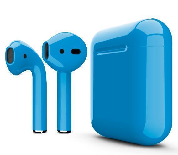 Купить Беспроводные Bluetooth cтерео-наушники Apple AirPods Blue