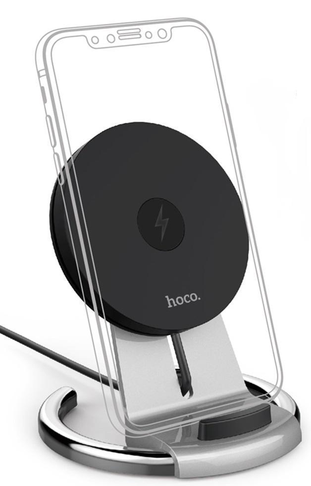 Беспроводное зарядное устройство Hoco CW5 Wireless Quick Charge (9V/1.8A) Silver