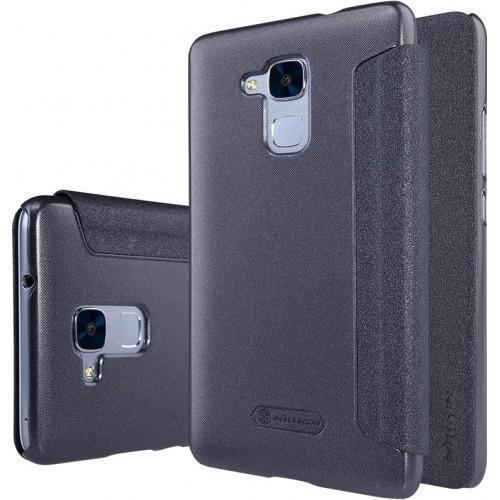 Чехол-книжка Nillkin Sparkle Series для Huawei Honor 5C пластик-полиуретан (черный)для Huawei<br>Чехол-книжка Nillkin Sparkle Series для Huawei Honor 5C пластик-полиуретан (черный)<br>