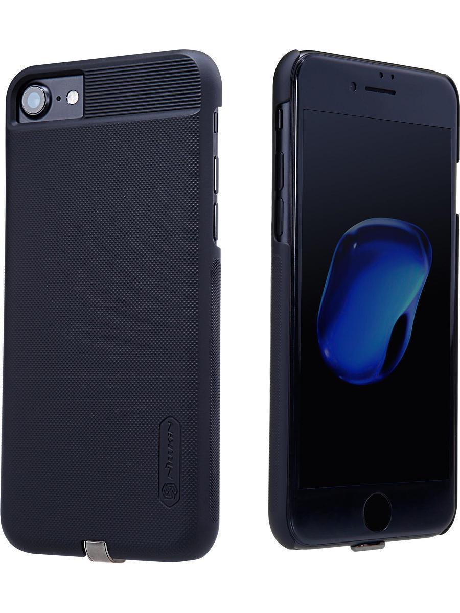 Чехол-накладка Nillkin Magic Case QI для Apple iPhone 7/8 с беспроводной зарядкой пластик черныйдля iPhone 7/8<br>Чехол-накладка Nillkin Magic Case QI для Apple iPhone 7/8 с беспроводной зарядкой пластик черный<br>