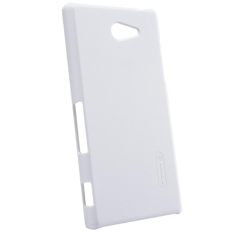 Чехол-накладка Nillkin Frosted Shield для Sony Xperia M2 / M2 Dual / M2 Aqua пластиковый белыйдля Sony<br>Чехол-накладка Nillkin Frosted Shield для Sony Xperia M2 / M2 Dual / M2 Aqua пластиковый белый<br>