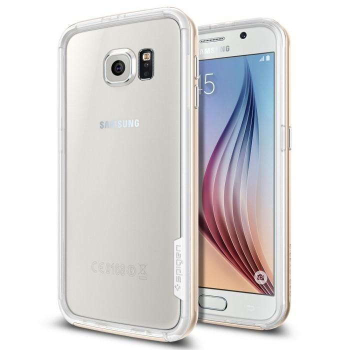 Чехол-бампер Spigen Neo Hybrid EX для Samsung Galaxy S6 (SGP11443) Champagne Gold