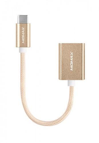 Адаптер OTG Momax Elite Link (DTAF) с (Type-C) на (USB) 18см GoldКабели-адаптеры (Type-C)<br>Адаптер OTG Momax Elite Link (DTAF) с (Type-C) на (USB) 18см Gold<br>