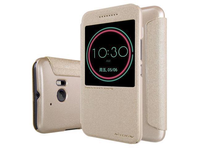 Чехол-книжка Nillkin Sparkle Series для HTC 10 / 10 Lifestyle пластик-полиуретан (золотой)для HTC<br>Чехол-книжка Nillkin Sparkle Series для HTC 10 / 10 Lifestyle пластик-полиуретан (золотой)<br>