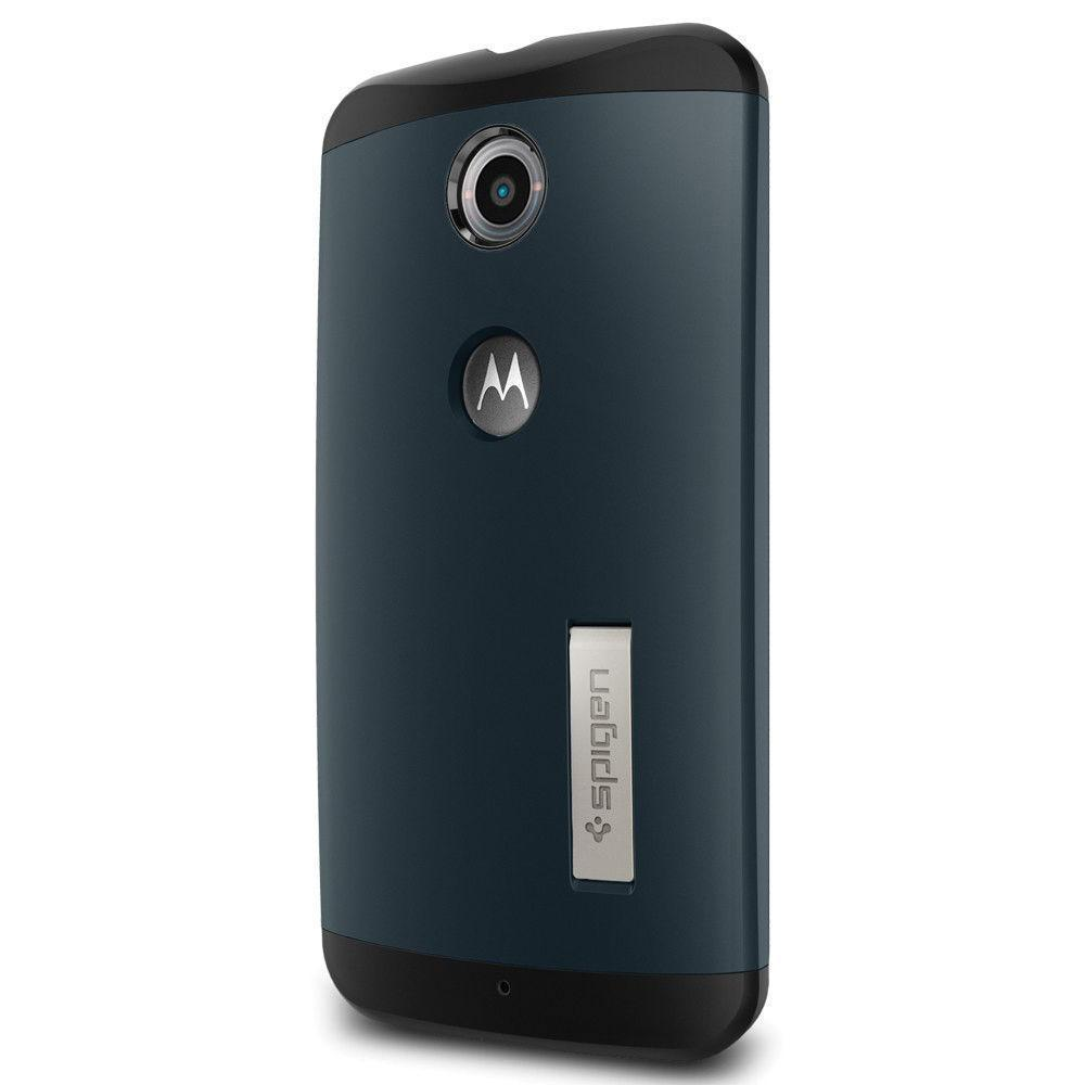 Чехол-накладка Spigen Slim Armor (SGP11237) для Motorola Nexus 6 резина, пластик (Metal Slate) фото
