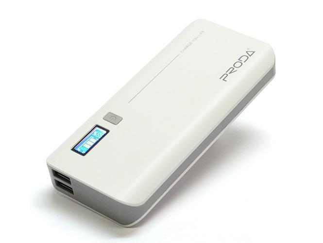 Универсальный внешний аккумулятор Remax Proda V10i Jane 20000 mAh 1 А/ 2.1 А, USBx2 пластик White
