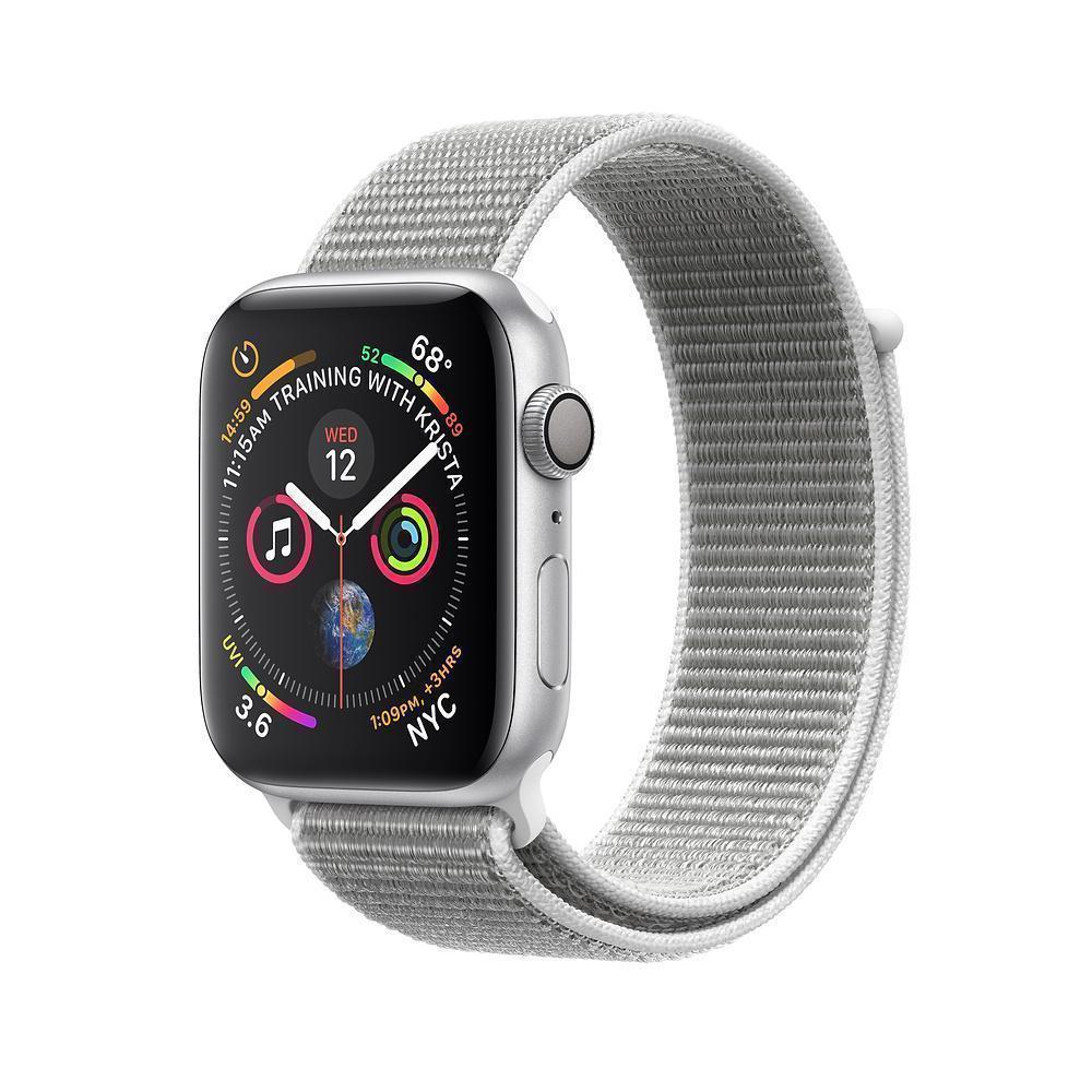 Apple Watch Nike+ Series 4 40mm (GPS) Silver Aluminum Case with Summit White Nike Sport Loop (MU7F2)