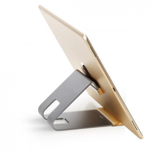 Универсальная металлическая подставка ROCK Metal Stand Grey for Tablet PC для планшетаДля офиса<br>Универсальная металлическая подставка ROCK Metal Stand Grey for Tablet PC для планшета<br>