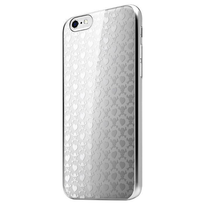 Чехол-накладка Itskins KROM для Apple iPhone 6/6S пластиковый серебристый