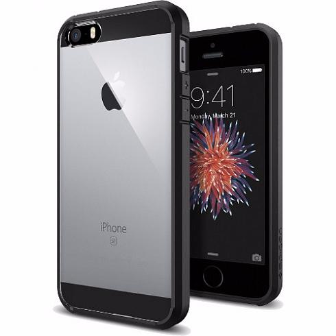 Чехол-накладка Spigen Ultra Hybrid для Apple iPhone SE/5S/5 Black (SGP 041CS20173)
