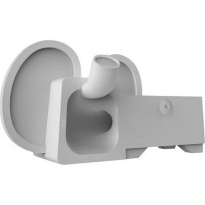 Подставка Аудиоусилитель Ozaki OM936EA O!Music Zoo Elephant для Apple iPhone SE/5S/5 резиновая grayдля iPhone 5/5S/SE<br>Подставка Аудиоусилитель Ozaki OM936EA O!Music Zoo Elephant для Apple iPhone SE/5S/5 резиновая gray<br>