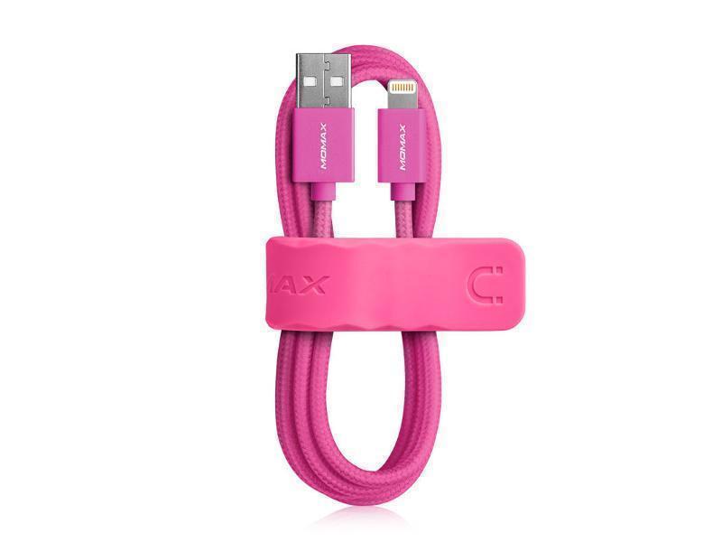 Кабель USB/Lightning Momax Elite Link 1M MFI для iPhone 5/5S/6/6S/SE/ iPad mini/iPad Air pink