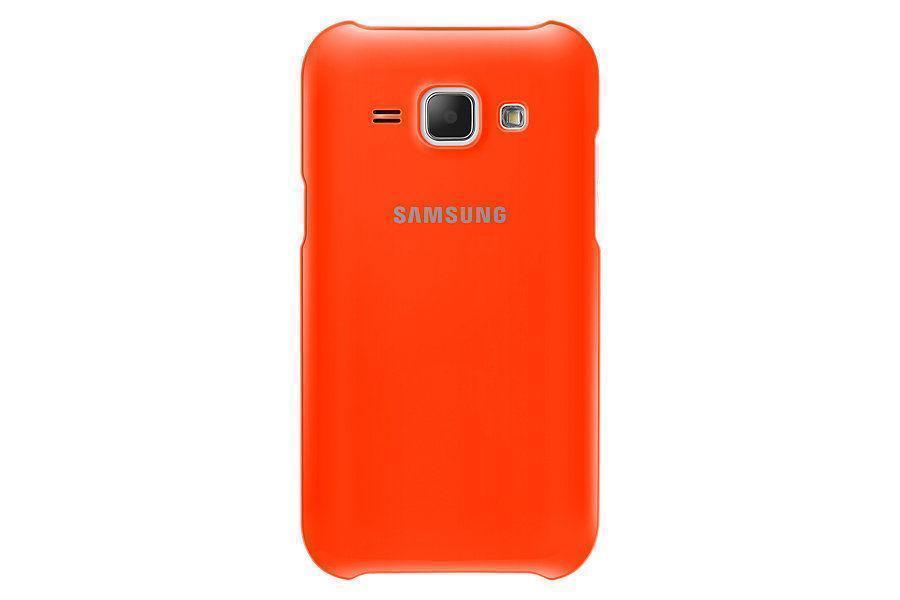 Чехол-накладка Samsung Protective Cover для Galaxy J1 (SM-J100/SM-J110) оранжевый (EF-PJ100BOEGRU)для Samsung<br>Чехол-накладка Samsung Protective Cover для Galaxy J1 (SM-J100/SM-J110) оранжевый (EF-PJ100BOEGRU)<br>