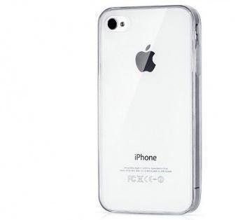 Купить Чехол-накладка для Apple iPhone 4/4S силиконовый прозрачный