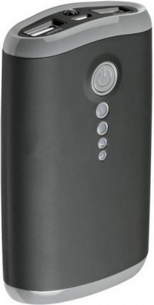 Универсальный внешний аккумулятор Deppa NRG Touch 7800 mAh 1 А/ 2.1 А, USBx2 пластик/резина черный