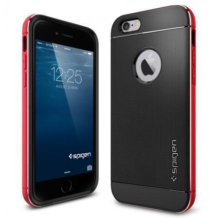 Чехол-накладка Spigen Neo Hybrid Metal для Apple iPhone 6/6S Metal Red (SGP11040)для iPhone 6/6S<br>Чехол-накладка Spigen Neo Hybrid Metal для Apple iPhone 6/6S Metal Red (SGP11040)<br>