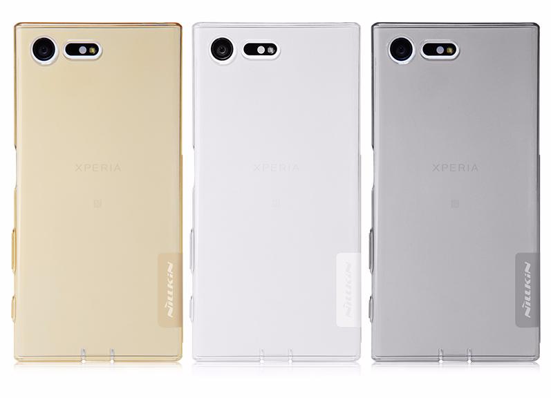 Чехол-накладка Nillkin Nature для Sony Xperia X Compact F5321 силиконовый прозрачно-золотойдля Sony<br>Чехол-накладка Nillkin Nature для Sony Xperia X Compact F5321 силиконовый прозрачно-золотой<br>