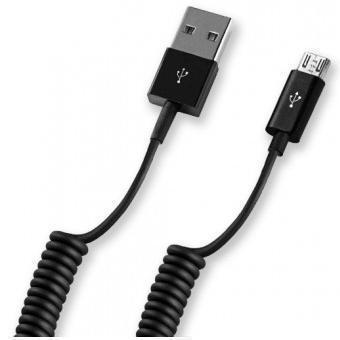 Кабель Deppa витой (USB) на  (micro USB) 150см черный(micro USB) кабели, переходники, адаптеры<br>Кабель Deppa витой (USB) на  (micro USB) 150см черный<br>