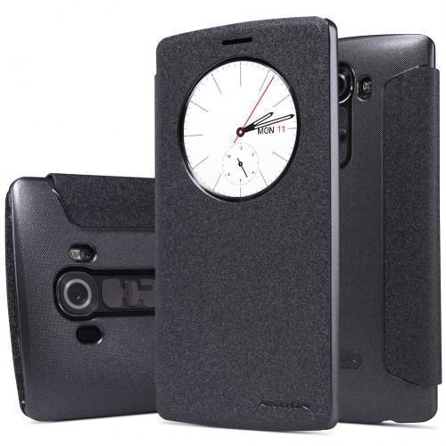 Чехол-книжка Nillkin Sparkle Series для LG G4 beat/G4S пластик-полиуретан (чёрный)