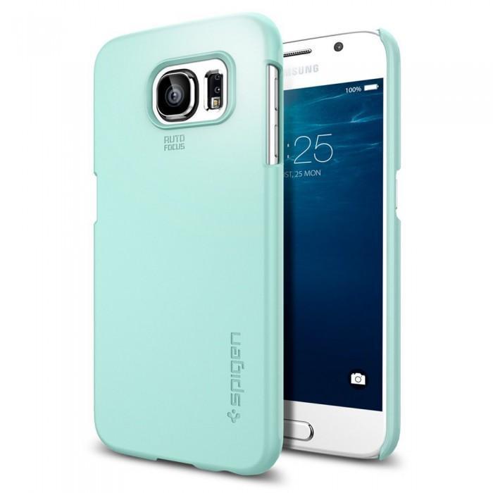 Купить Чехол-накладка Spigen SGP11310 Thin Fit для Samsung Galaxy S6 (Mint)
