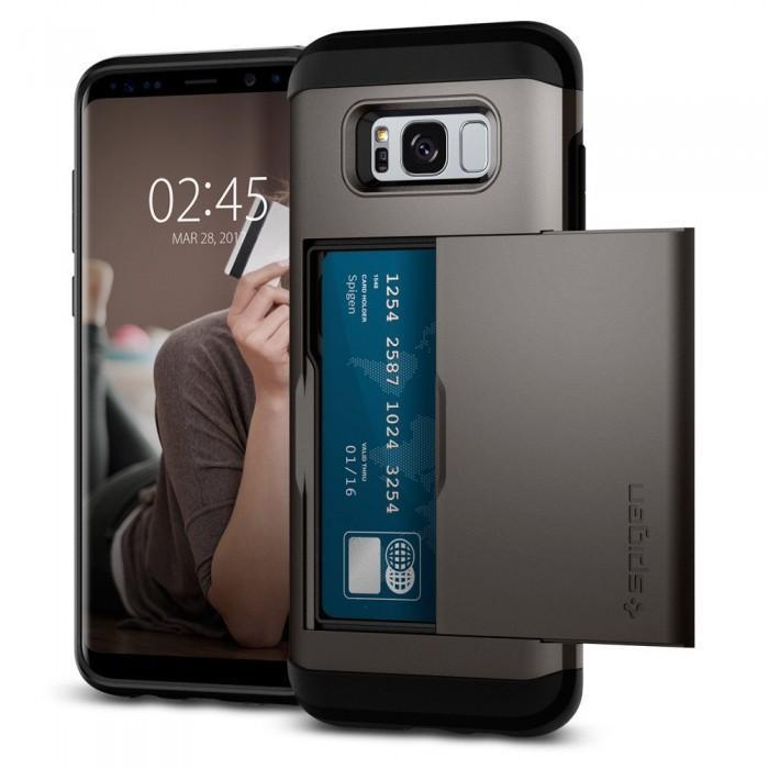 Чехол-накладка Spigen Slim Armor CS для Samsung Galaxy S8+ темно-серый (SGP 571CS21670)для Samsung<br>Чехол-накладка Spigen Slim Armor CS для Samsung Galaxy S8+ темно-серый (SGP 571CS21670)<br>