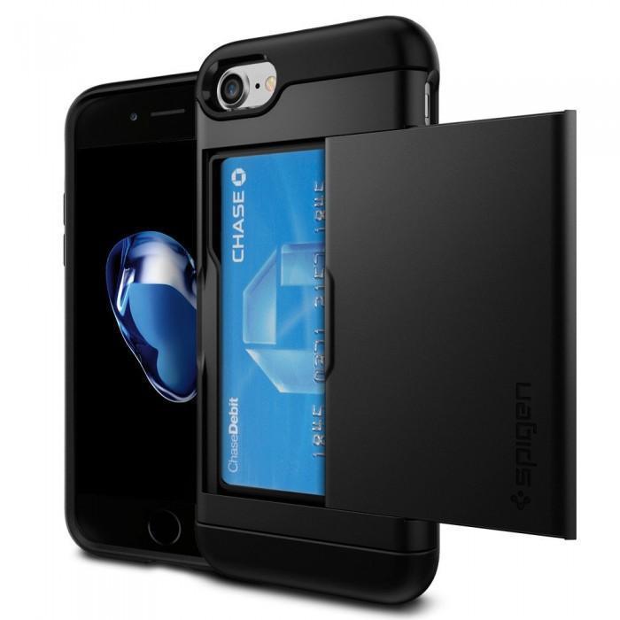 Чехол-накладка Spigen Slim Armor CS для Apple iPhone 7/8 пластик/силикон (Black) SGP 042CS20455для iPhone 7/8<br>Чехол-накладка Spigen Slim Armor CS для Apple iPhone 7/8 пластик/силикон (Black) SGP 042CS20455<br>